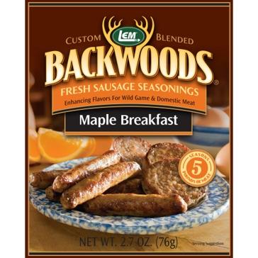 LEM Backwoods 2.7 Oz. Fresh Sausage Maple Breakfast Seasoning 9624