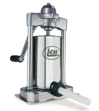 LEM Mighty Bite Stainless Steel Vertical Sausage Stuffer - 5lbs.