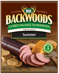 LEM Backwoods Reduced Sodium Sausage Cured Sausage Seasoning 5 lbs.