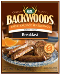 LEM Backwoods Reduced Sodium Fresh Breakfast Sausage Seasoning 5 lbs.
