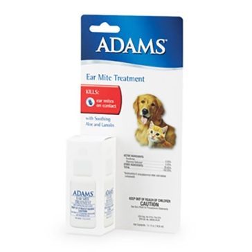 Adams Ear Mite Treatment for Dog & Cats 0.5oz