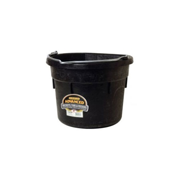 Little Giant DF18FB Flat-Back Bucket, 18 qt Volume, Rubber, Black