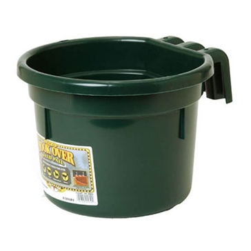 Little Giant CPHGREEN Hook-Over Feed Pail, 8 qt Volume, Plastic, Green
