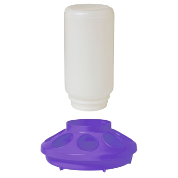 Little Giant Purple Plastic Feeder Base with 1Qt Jar