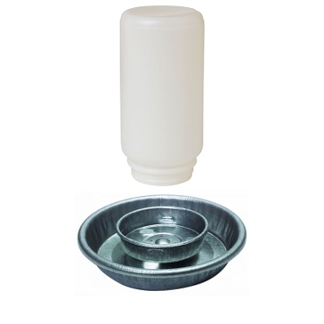 Little Giant Metal Waterer Base with 1Qt Jar