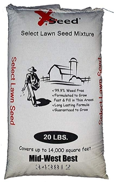 X-Seed Midwest Lawn Seed Mix, 20-Pound