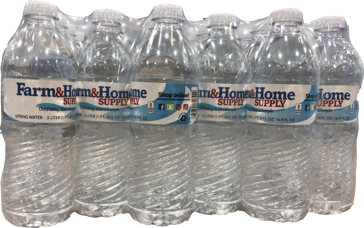 Farm & Home Supply 16.9oz Bottled Spring Drinking Water 24 Pack