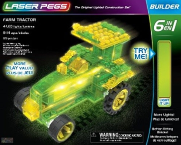 Laser Pegs Farm Tractor Kit