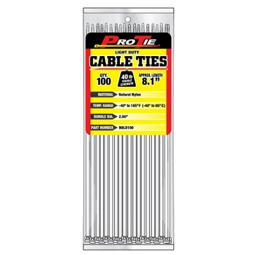 Pro Tie Natural Nylon 40lb Light Duty Cable Ties