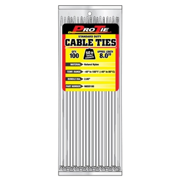 Pro Tie Natural Nylon 50lb Standard Duty Cable Ties