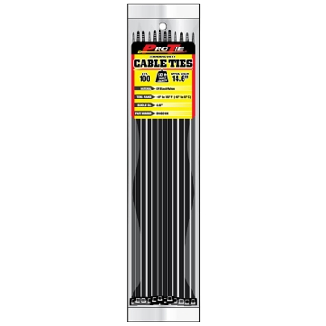 Pro Tie Black Nylon 50lb Standard Duty Cable Ties