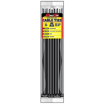 Pro Tie Black Nylon 250lb Super Heavy Duty Cable Ties
