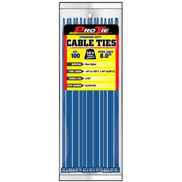 Pro Tie Blue Nylon 50lb Standard Duty Cable Ties