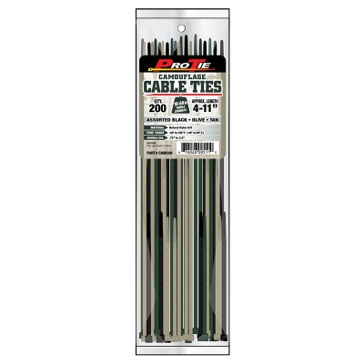 Pro Tie 18-50lb Camouflage Cable Ties