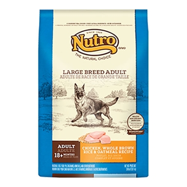 Nutro Large Breed Adult Dry Dog Food - Chicken, Whole Brown Rice & Oatmeal Recipe 30lb