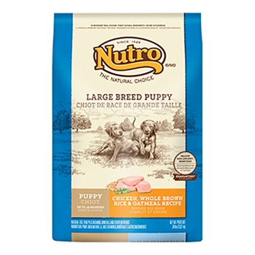 Nutro Large Breed Dry Puppy Food - Chicken, Whole Brown Rice & Oatmeal Recipe 30lb