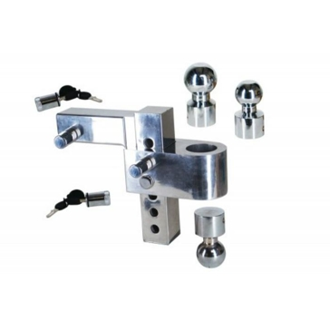 Uriah Aluma-Tow Adjustable Ball Mount Combo - Aluminum UT623410