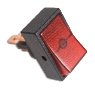 Uriah 12VDC Red Rocker SwitchUA403600