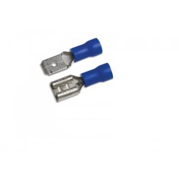 "Uriah Blue M/F Nylon 1/4"" Tab Disconnects 4-Sets UA613550"