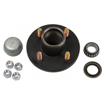 Uriah 4-Bolt Trailer Wheel Replacement Hub Kit - Fits BT8 Spindle UW000150