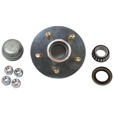 Uriah 5-Bolt Trailer Wheel Replacement Hub Kit - Fits #84 Spindle UW000545