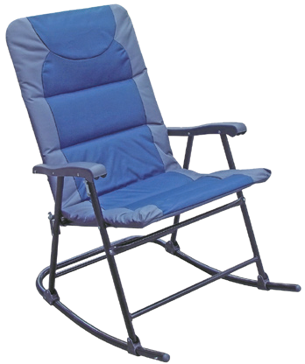 Discover Home Products Passed Folding Rocking Chair - Blue