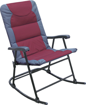 Discover Home Products Passed Folding Rocking Chair - Maroon