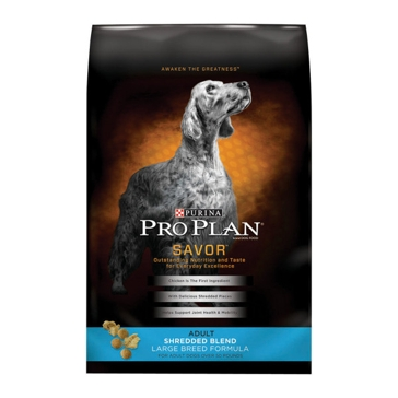 Purina Pro Plan Savor Adult Shredded Blend Large Breed Formula Dry Dog Food 34lb