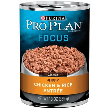 Purina Pro Plan Focus Puppy Chicken & Rice Entrée Wet Dog Food 13oz