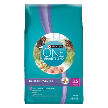 Purina One Hairball Formula Premium Dry Cat Food 7lb