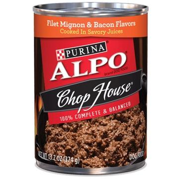 Purina Alpo Chop House Filet Mignon & Bacon Flavors Wet Dog Food 13oz
