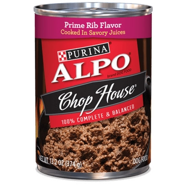 Purina Alpo Chop House Prime Rib Flavor Wet Dog Food 13oz