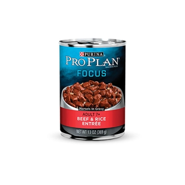 Purina Pro Plan Focus Adult Large Breed Beef & Rice Entrée Wet Dog Food 13oz