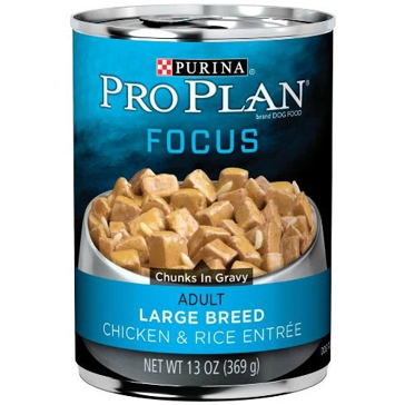 Purina Pro Plan Focus Adult Large Breed Chicken & Rice Entrée Wet Dog Food 13oz