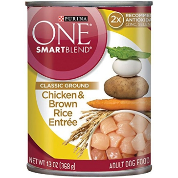 Purina One Smartblend Adult Chicken & Brown Rice Entrée Wet Dog Food 13oz