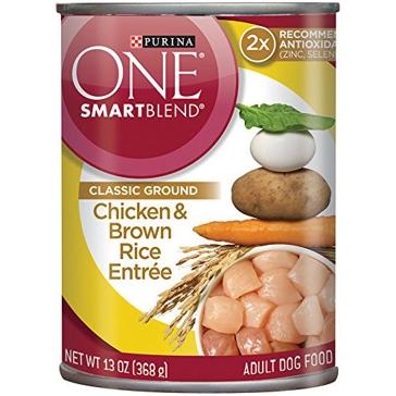 Purina One Smartblend Adult Chicken & Brown Rice Entrée Wet Dog Food 13oz