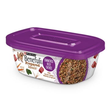 Purina Beneful Prepared Meals Simmered Beef Entrée Wet Dog Food 10oz