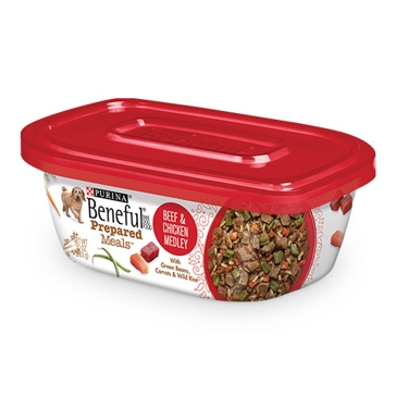 Purina Beneful Prepared Meals Beef & Chicken Medley Wet Dog Food 10oz