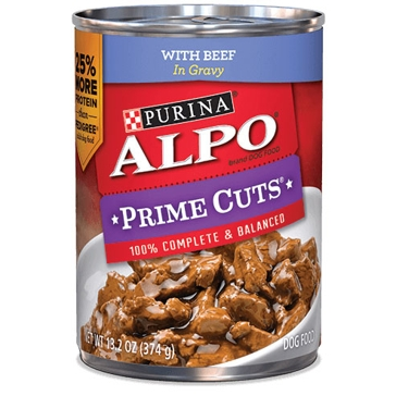 Purina Alpo Prime Cuts with Beef in Gravy Wet Dog Food 13.2oz