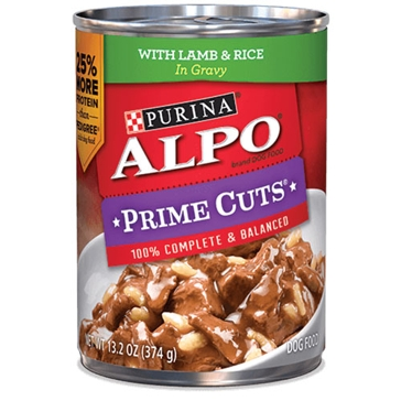 Purina Alpo Prime Cuts Stew with Lamb & Rice Wet Dog Food 13.2oz