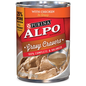 Purina Alpo Gravy Cravers with Chicken Wet Dog Food 13.2oz