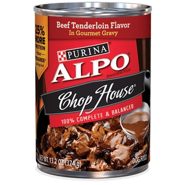 Purina Alpo Chop House Beef Tenderloin Flavor Wet Dog Food 13oz