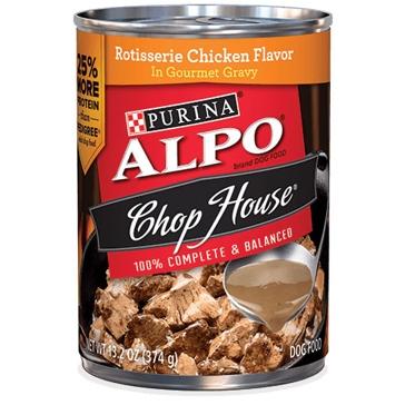 Purina Alpo Chop House Rotisserie Chicken Flavor Wet Dog Food 13oz