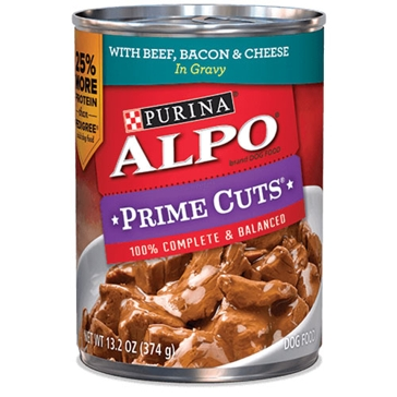 Purina Alpo Prime Cuts with Beef, Bacon & Cheese Wet Dog Food 13.2oz