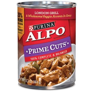 Purina Alpo Prime Cuts London Grill & Wholesome Veggie Wet Dog Food 13.2oz