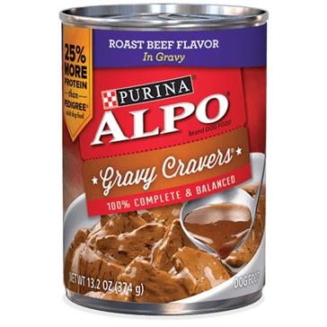 Purina Alpo Gravy Cravers Roast Beef Flavor Wet Dog Food 13.2oz