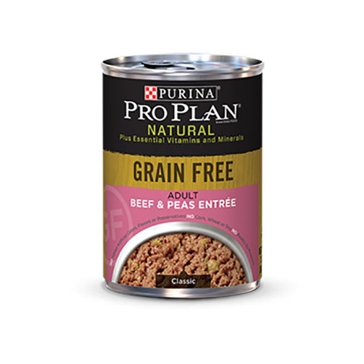 Purina Pro Plan Natural Adult Grain Free Beef & Peas Entrée Wet Dog Food 13oz
