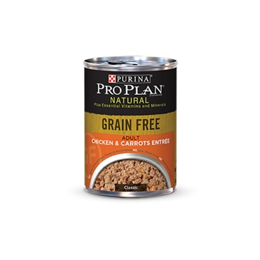 Purina Pro Plan Natural Adult Grain Free Chicken & Carrots Entrée Wet Dog Food 13oz