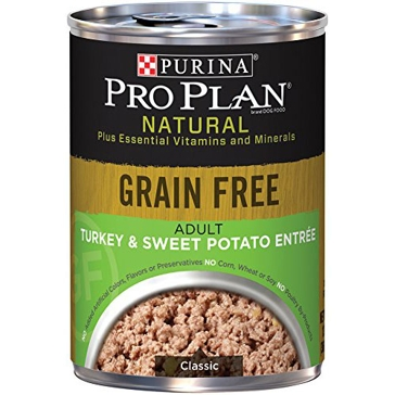 Purina Pro Plan Natural Adult Grain Free Turkey & Sweet Potato Entrée Wet Dog Food 13oz