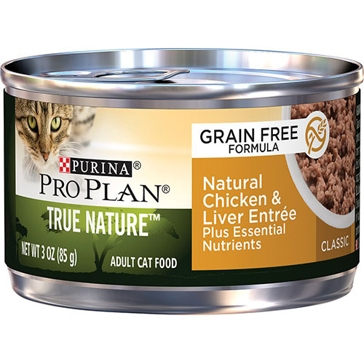 Purina Pro Plan True Nature GF Adult Chicken & Liver Entrée Wet Cat Food 3oz